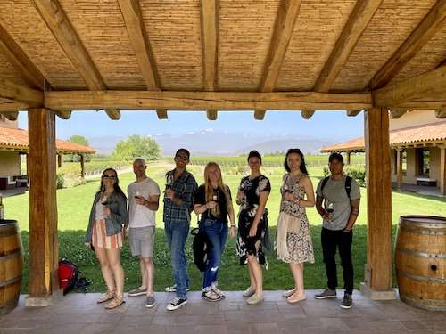Finca winery group shot Mendoza Argentina itinerary