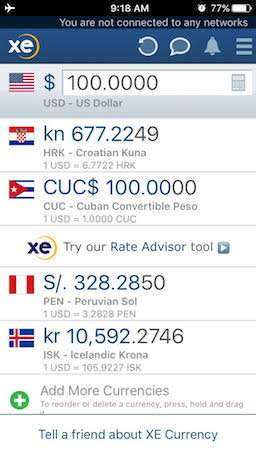 Best travel apps XECurrency
