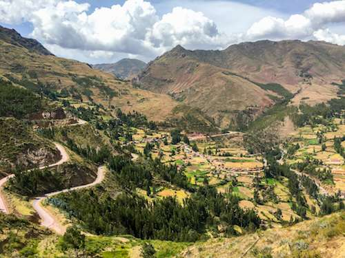 Picturesque Pisac ruins Sacred Valley Peru