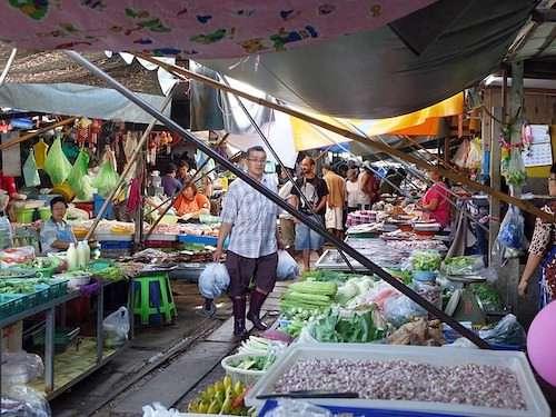 maeklong railway market Bangkok