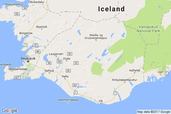Iceland map group trips