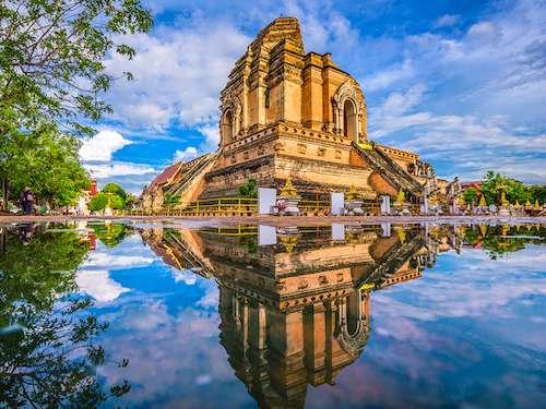 Wat Chedi Laung Chiang Mai Thailand group vacation