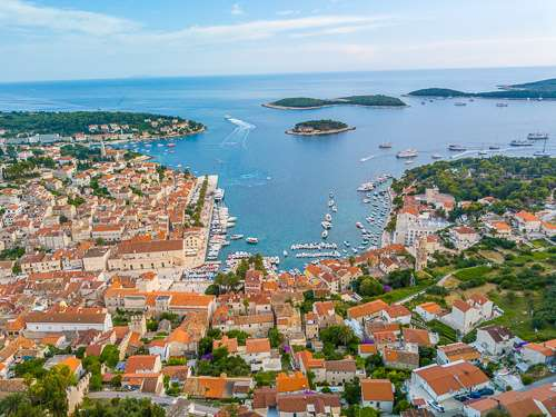 Hvar Croatia fortress top view