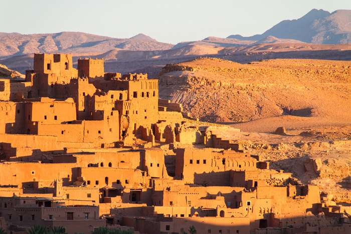 Ait Benhaddou is a fortified village in Morocco