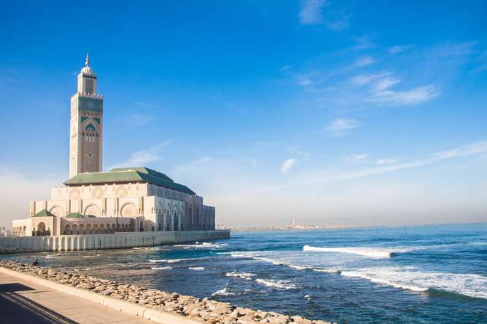 Hassan II Mosque of Casablanca by the sea