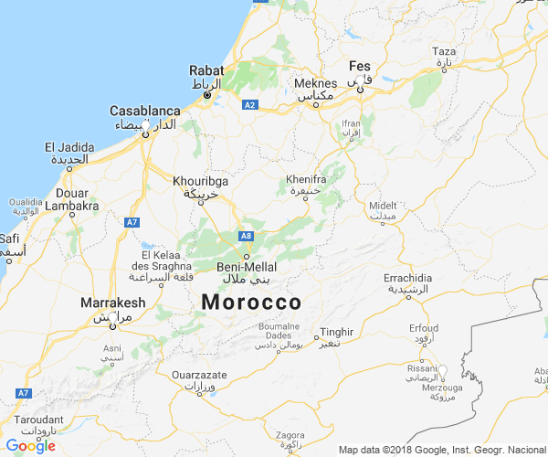 Morocco group travel map