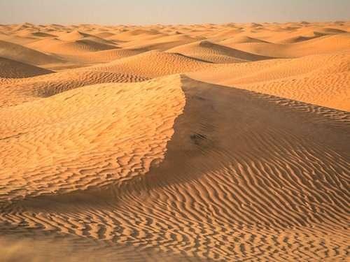 Nothing but desert in Sahara Morocco