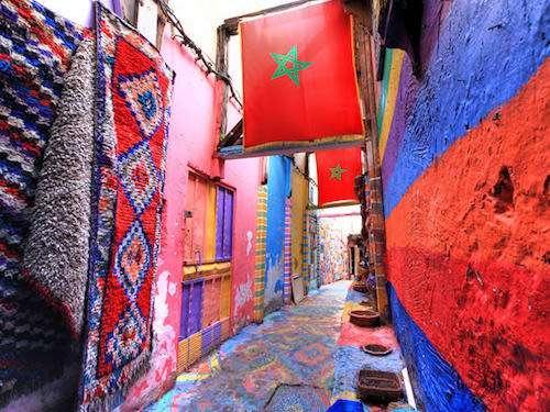 Medina streets in Fes Morocco