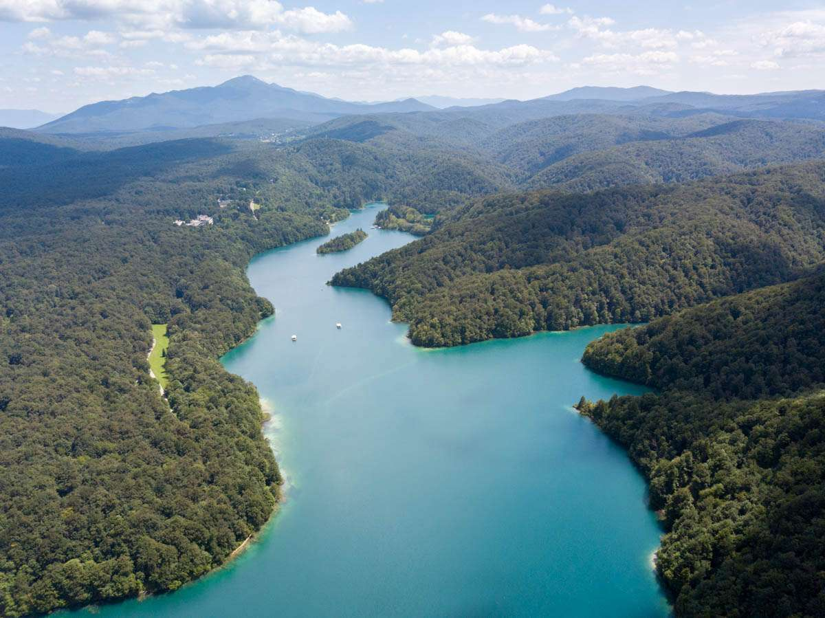 Plitvice Lakes National Park from above