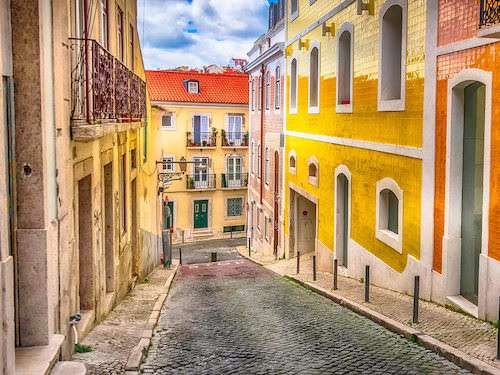 Lisbon Portugal colorful street