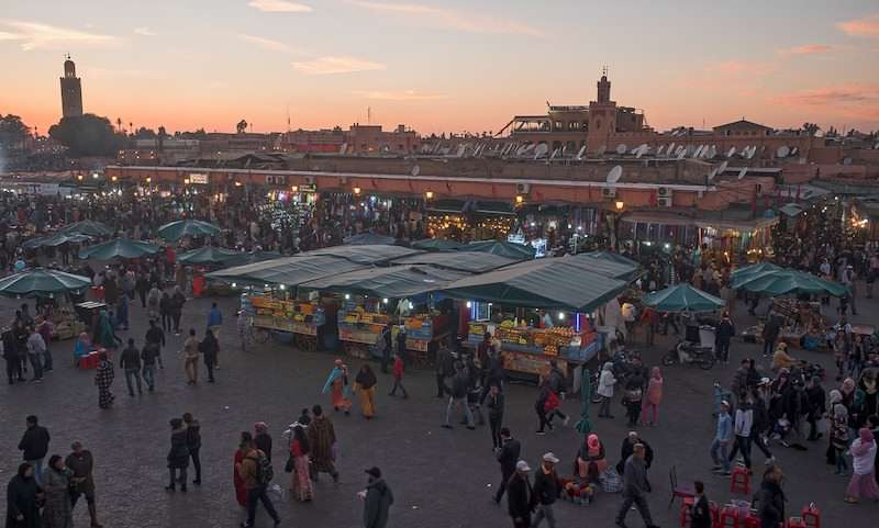 Marrakech souk aerial view