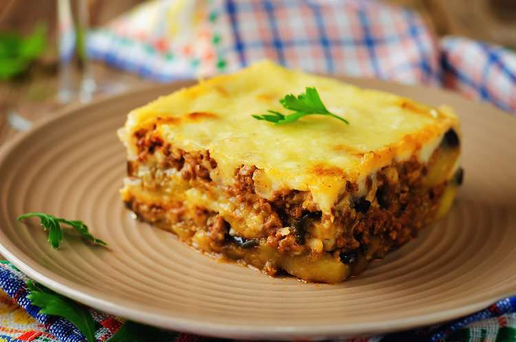 Moussaka is a traditional Greek food