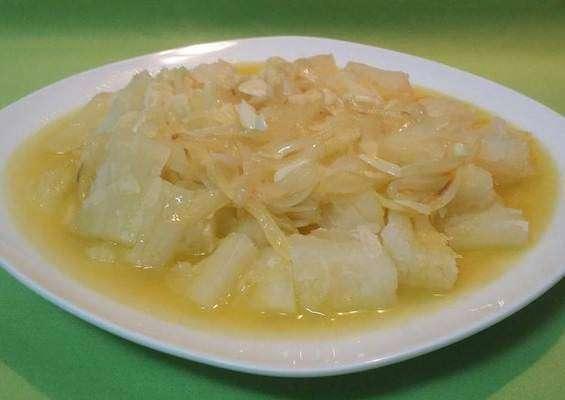 Yuca en Mojo traditional Cuban dish
