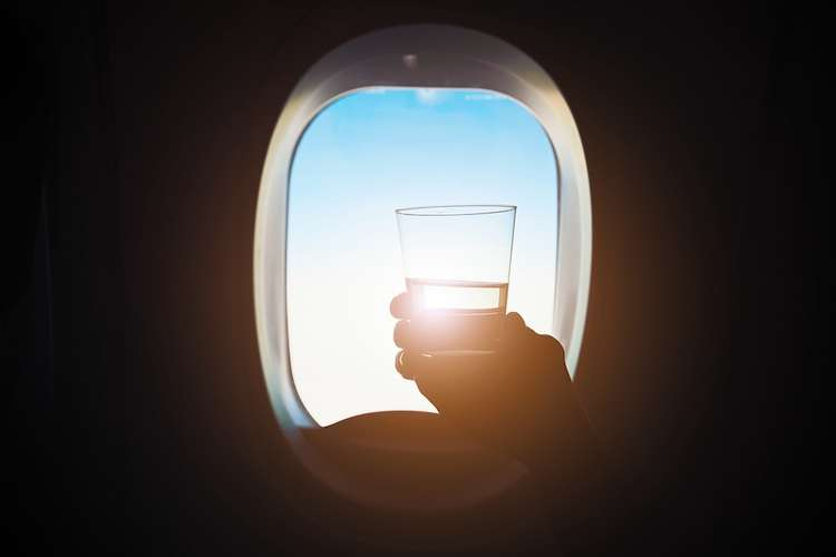 cheers airplane drink