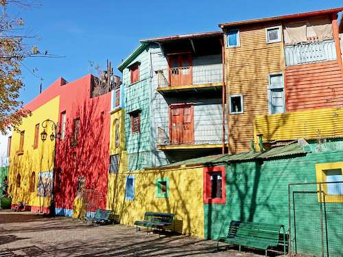 Colorful houses in La Boca Buenos Aires Argentina itinerary