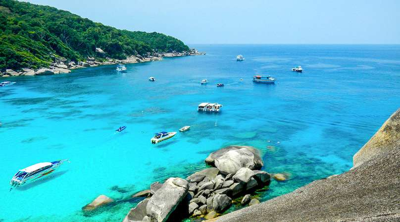 The water on Koh Similan is insane