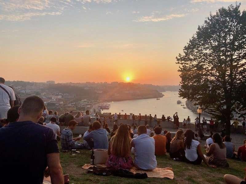Porto Portugal sunset