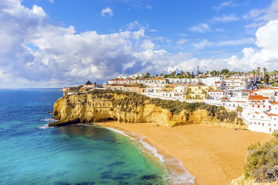 Town of Carvoeiro Algarve Portugal