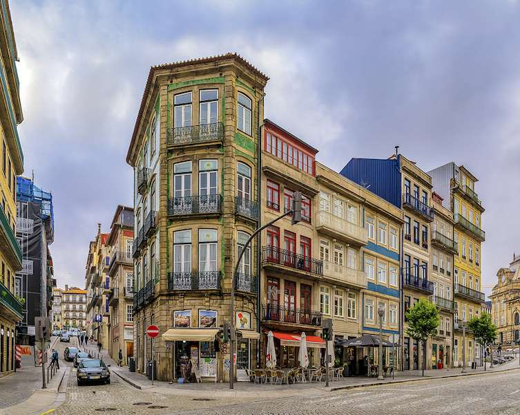 Traditional Portuguese houses Porto