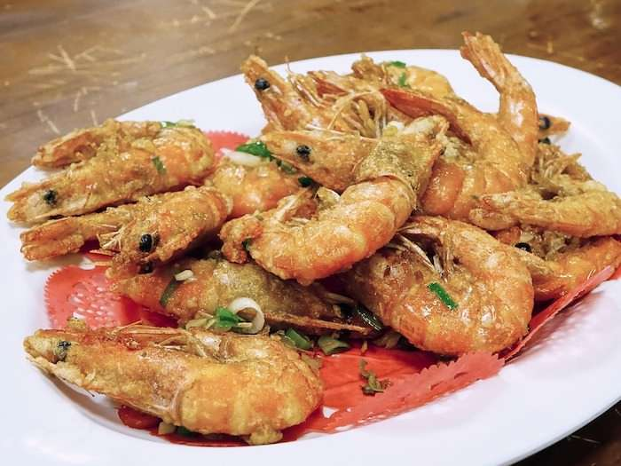 Thai fried coconut shrimp