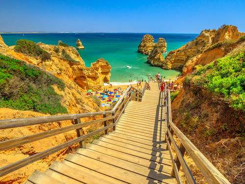 Praia do Camilo Algarve Lagos Portugal itinerary