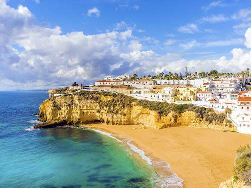 Town of Carvoeiro Algarve Portugal itinerary
