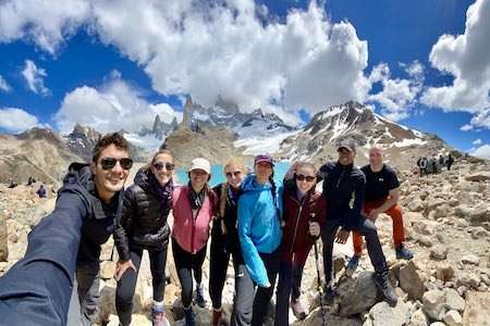 Selfie from our Argentina group trip in Patagonia