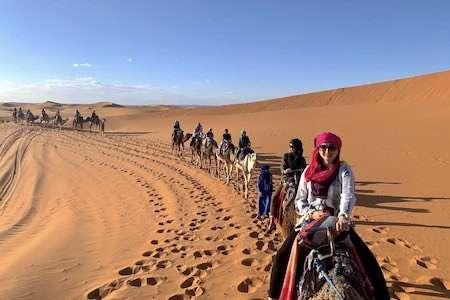 Morocco camel caravan sahara desert home