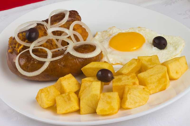 Traditional alheira sausage Porto