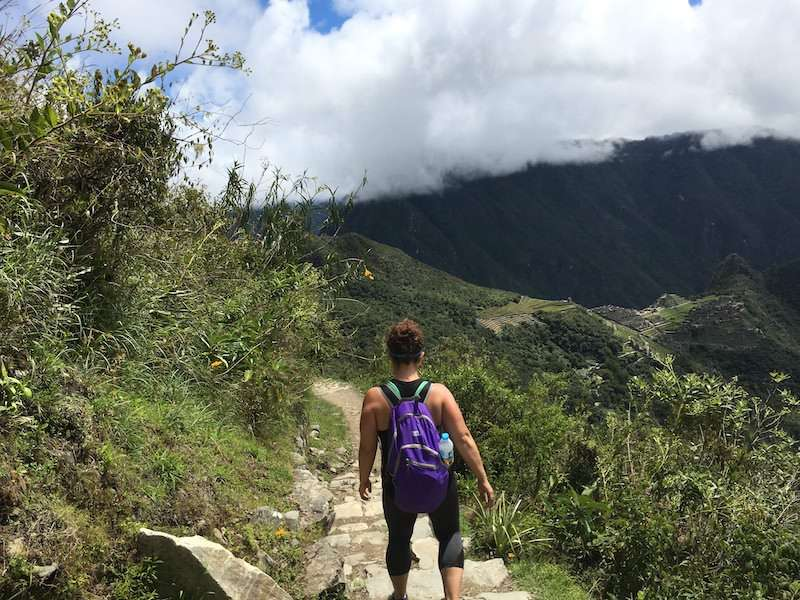 Day hike at Machu Picchu in shorts