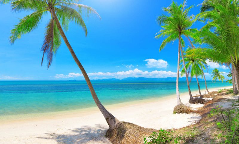 Bang Po beach on Koh Samui Island Thailand
