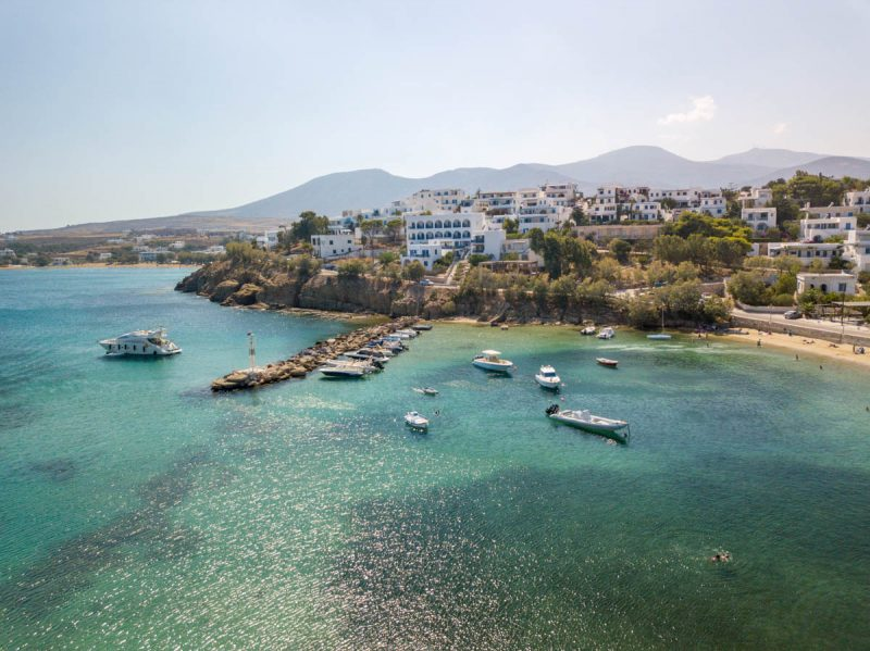 Beautiful bay of Paros Greece