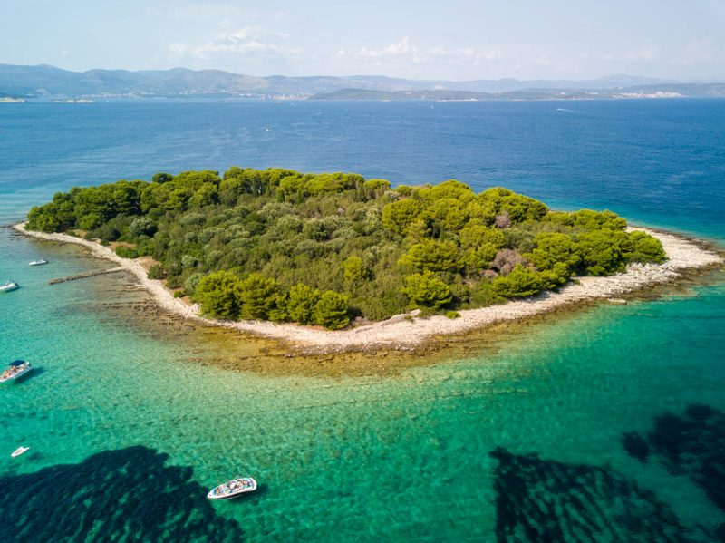 Beautiful secluded island off Hvar Croatia