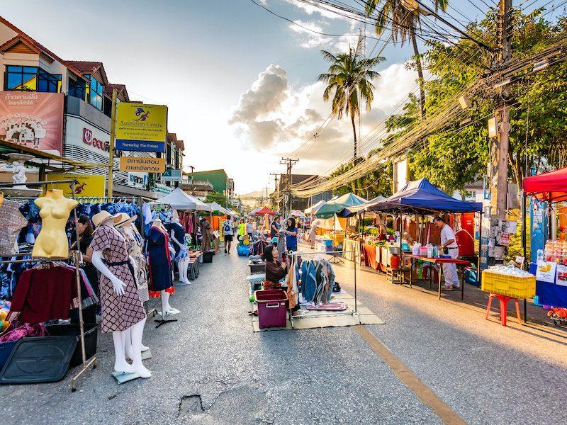 Chiang Mai shopping street market