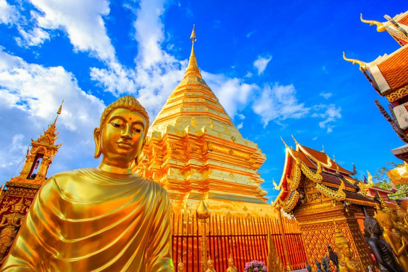 Wat Phra That in Doi Suthep Chiang Mai Thailand
