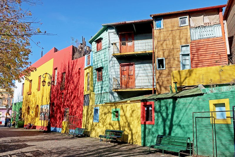 Colorful houses in La Boca