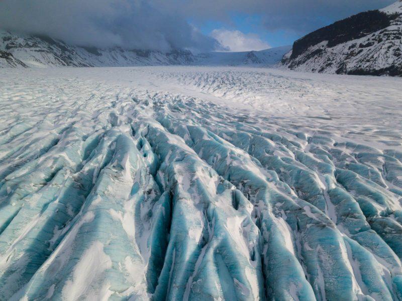Beautiful glacier after rain