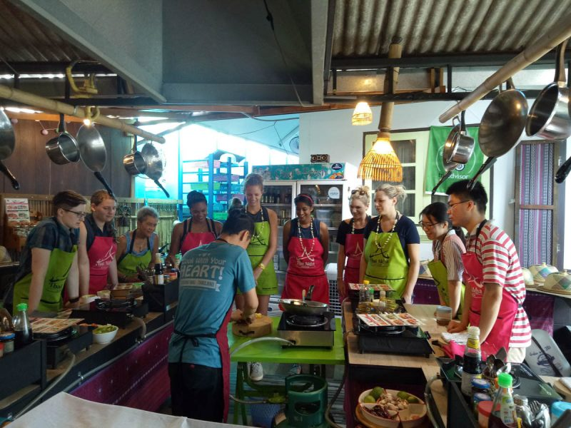 Group cooking class in Chiang Mai Thailand