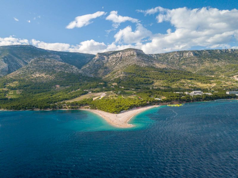 Beautiful Golden Horn beach in Brac Croatia