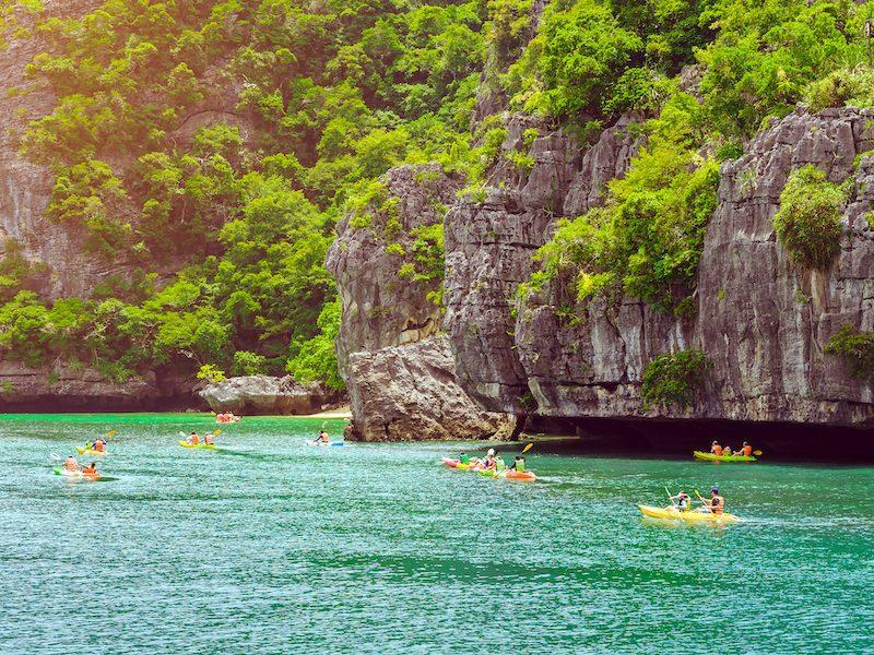 Kayaking in Ang Thong National Park