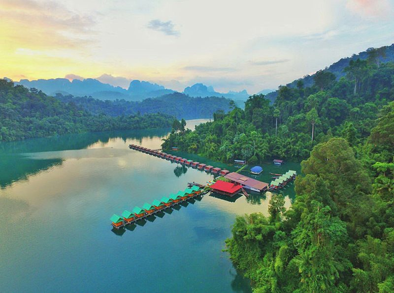 Our floating hotel in Khao Sok