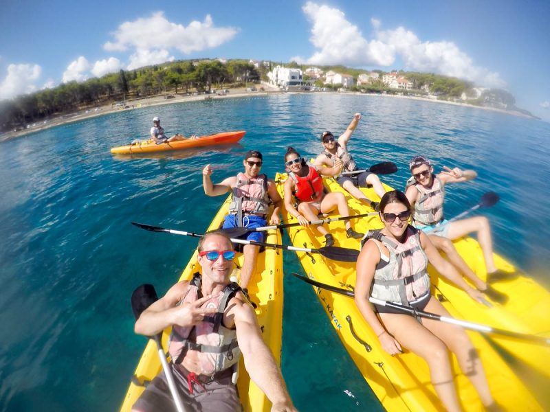 Kayaking selfie in Brac Croatia